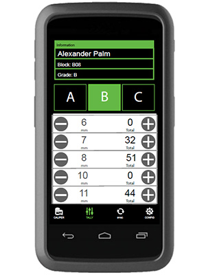 electronic nursery tally counter software app