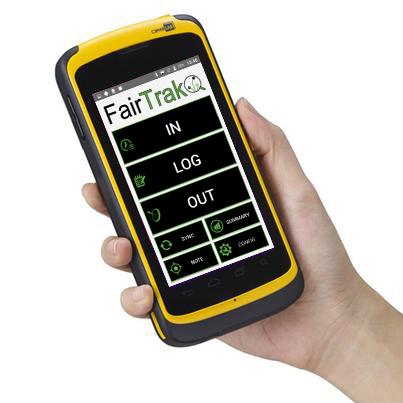 rugged handheld device labor tracking app